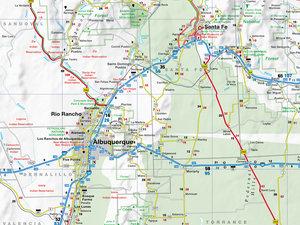 New Mexico 1 : 825 000. Straßenkarte