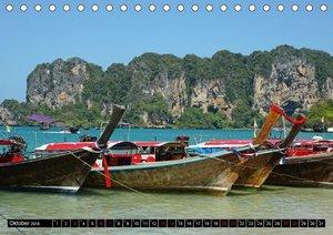 Maritimes - Bunte Boote (Tischkalender 2018 DIN A5 quer)