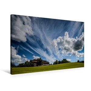 Premium Textil-Leinwand 90 cm x 60 cm quer Wolken ziehen über da