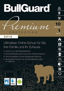 BullGuard Premium Protection 2018, 1 DVD