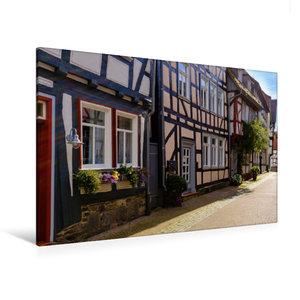 Premium Textil-Leinwand 120 cm x 80 cm quer Kirchgasse