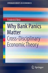 Why Bank Panics Matter