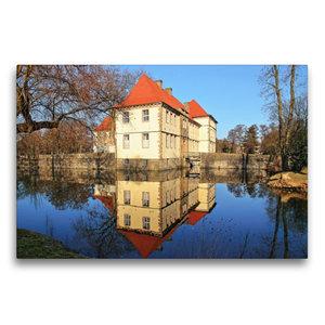 Premium Textil-Leinwand 75 cm x 50 cm quer Wasserschloss Strünke