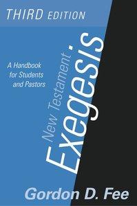 New Testament Exegesis, Third Edition