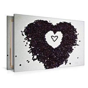 Premium Textil-Leinwand 120 cm x 80 cm quer Ein Herz für Kaffee