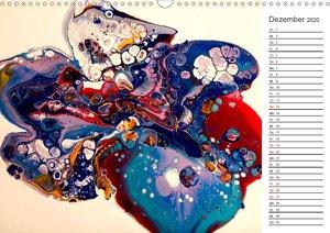 Abstract World - abstrakte Kunst in Acrylfließtechnik (Wandkalen