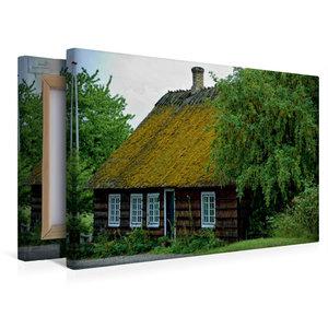 Premium Textil-Leinwand 45 cm x 30 cm quer Reethaus in Hesnæs