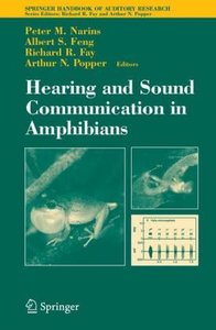 Hearing and Sound Communication in Amphibians