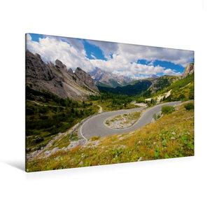 Premium Textil-Leinwand 120 cm x 80 cm quer Serpentinen zur Auro