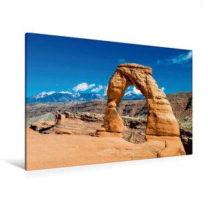 Premium Textil-Leinwand 120 cm x 80 cm quer Delicate Arch