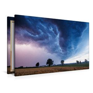 Premium Textil-Leinwand 120 cm x 80 cm quer Shelfcloud zur blaue