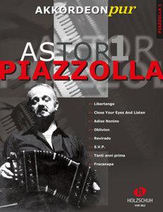 Astor Piazzolla, für Akkordeon, Bearbeitung. Bd.1