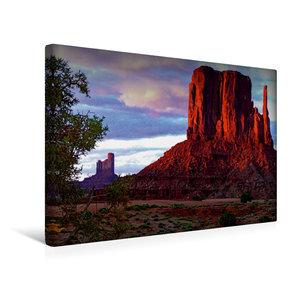 Premium Textil-Leinwand 45 cm x 30 cm quer Monument Valley
