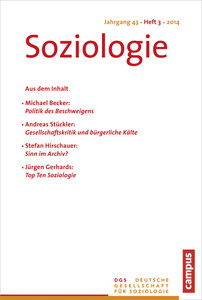 Soziologie Jg. 43 (2014) 3