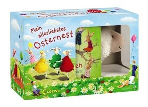 Mein allerliebstes Osternest. 2 Pappbilderbücher mit Plüschlämmc