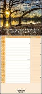 Lichtblicke Notizkalender 2019 - Wandkalender - mit Extraspalte
