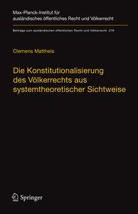 Die Konstitutionalisierung des Völkerrechts aus systemtheoretisc
