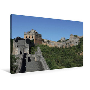 Premium Textil-Leinwand 90 cm x 60 cm quer Die Große Mauer bei J