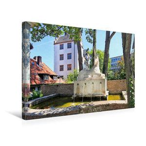 Premium Textil-Leinwand 45 cm x 30 cm quer Einhornbrunnen
