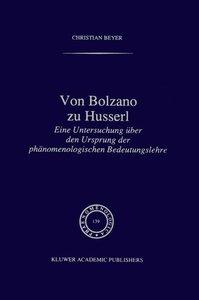 Von Bolzano zu Husserl