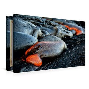 Premium Textil-Leinwand 90 cm x 60 cm quer Pahoehoe Lava