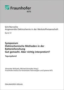 Symposium. Elektrochemische Methoden in der Batterieforschung. G