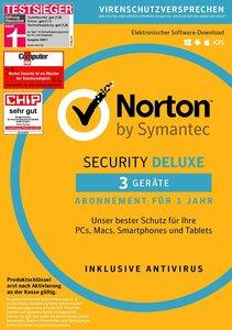 SYMANTEC - Norton Security Deluxe (3 Geräte - PC/Mac/Smartphone/