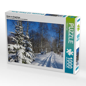 CALVENDO Puzzle Winter im Erzgebirge 1000 Teile Lege-Größe 64 x