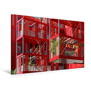 Premium Textil-Leinwand 120 cm x 80 cm quer Version Rubis im Par