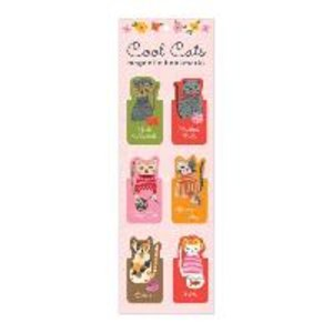 Cool Cats Magnetic Bookmarks