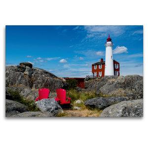 Premium Textil-Leinwand 120 cm x 80 cm quer Fisgard Lighthouse