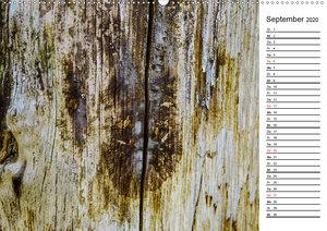 Holzstrukturen / Geburtstagskalender