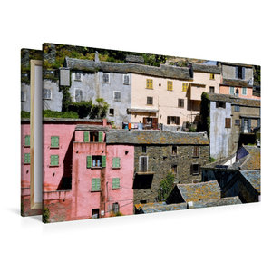 Premium Textil-Leinwand 120 cm x 80 cm quer Häuser von Nonza