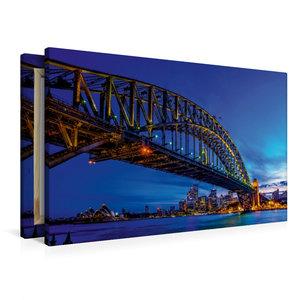 Premium Textil-Leinwand 90 cm x 60 cm quer Coat Hanger - Sydney