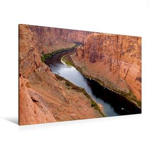 Premium Textil-Leinwand 120 cm x 80 cm quer Colorado River