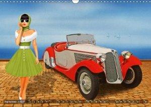 oldtimer und pin up girls by mausopardia wandkalender. Black Bedroom Furniture Sets. Home Design Ideas