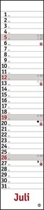 Planer Mini-long, rot Kalender 2020