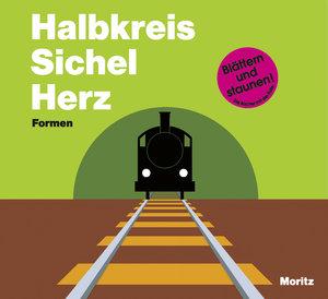 Halbkreis Sichel Herz. Formen.