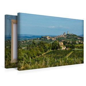 Premium Textil-Leinwand 45 cm x 30 cm quer San Gimignano