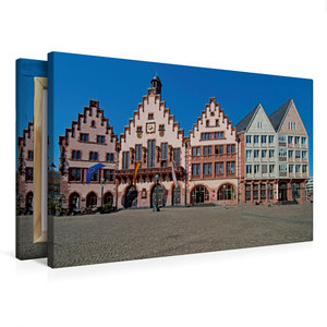 Premium Textil-Leinwand 75 cm x 50 cm quer Römer, Frankfurt