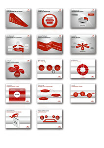 1000 Folien - 3D PowerPoint Vorlagen - Farbe: passion.red (2016)