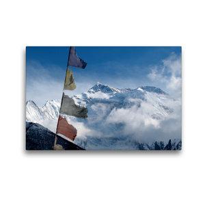 Premium Textil-Leinwand 45 cm x 30 cm quer Annapurna Himal - Ann