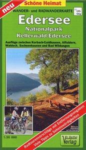 Wander- und Radwanderkarte Edersee, Nationalpark Kellerwald-Eder
