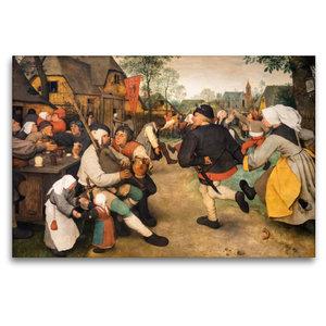 Premium Textil-Leinwand 120 cm x 80 cm quer Bauerntanz - 1568
