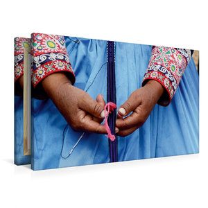 Premium Textil-Leinwand 90 cm x 60 cm quer Weben