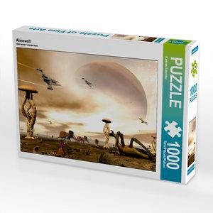 Alienwelt 1000 Teile Puzzle quer