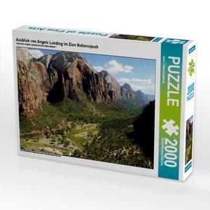 Ausblick von Angels Landing im Zion Nationalpark 2000 Teile Puzz