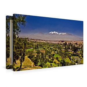 Premium Textil-Leinwand 90 cm x 60 cm quer Vulkan Chachani, 6057