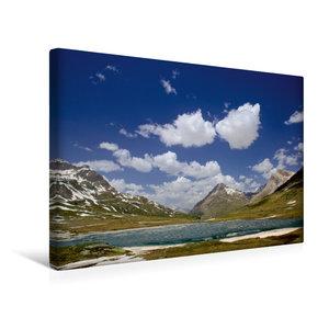Premium Textil-Leinwand 45 cm x 30 cm quer Lago Bianco Stausee