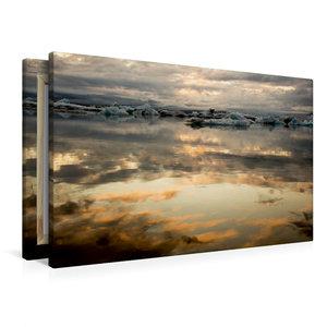 Premium Textil-Leinwand 90 cm x 60 cm quer Sonnenuntergang am Gl